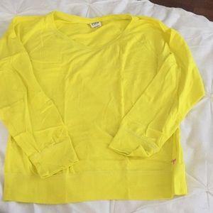 Pink raglan long sleeve t shirt medium